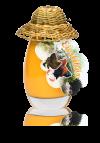 Eierlikör (20%) 0,1l in Glasflasche mit Hut