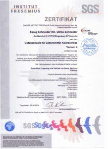 GLK-Zertifikat 2020